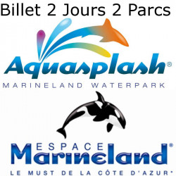 E-Billet Promo Marineland + Aquasplash 2 Jours