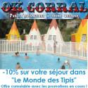 Code promo hébergement parc OK Corral