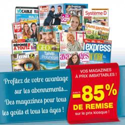 Abonnement magazine moins cher