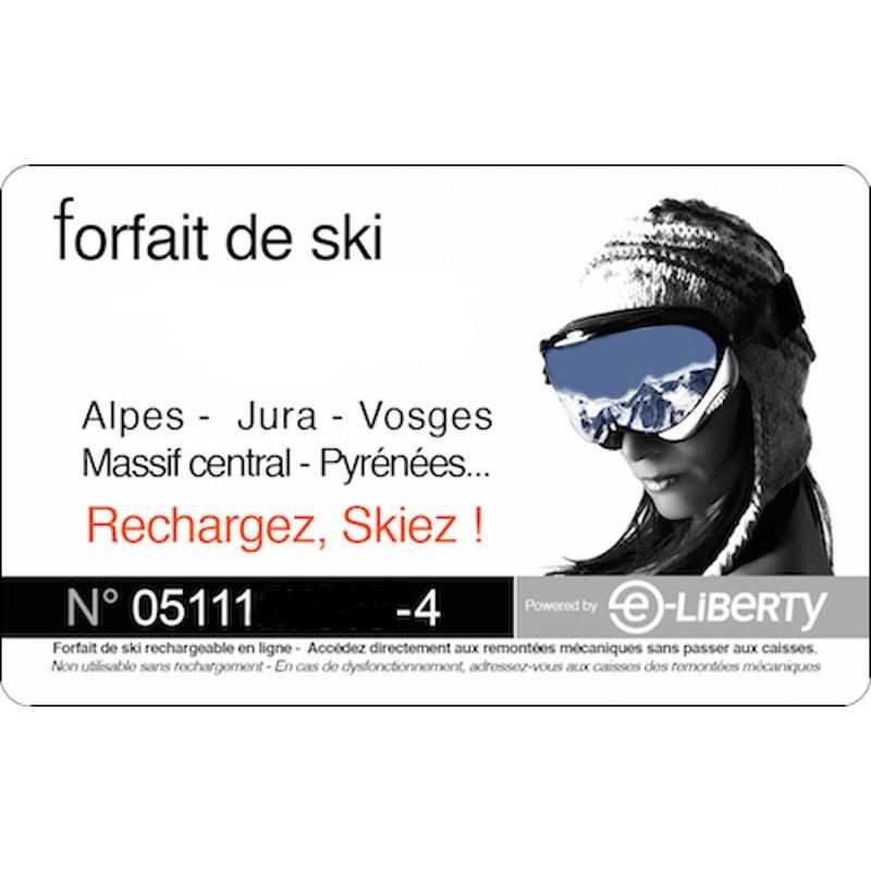carte reduction forfait ski 5€ SkiPass Carte rechargement Forfait Ski