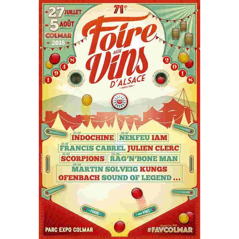 Billet concert festival foire aux vins Colmar Alsace moins cher