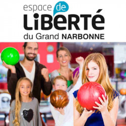 Ticket Partie Bowling Espace Liberté Narbonne moins cher à 3,99€