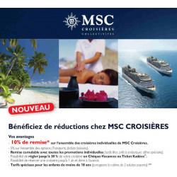 Réduction croisière MSC avec Accès CE