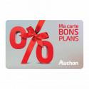 Avantage de - 5% carte cadeau Auchan moins chère