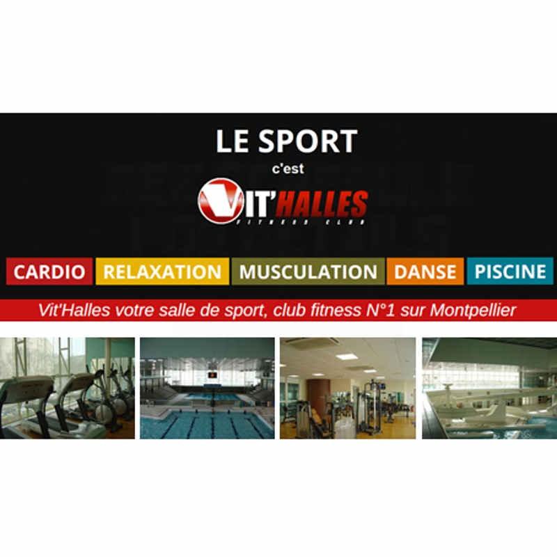 Abonnement Vit'Halles salle sport Montpellier