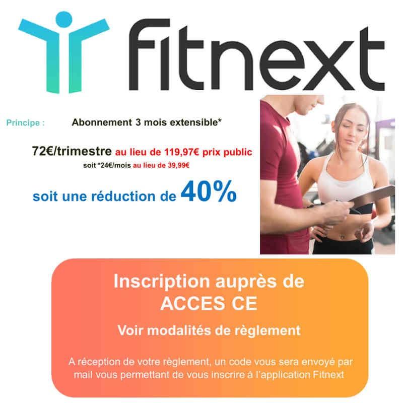 Abonnement Fitnext moins cher