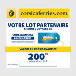 Chèque traversée voyage Corsica Ferries moins cher