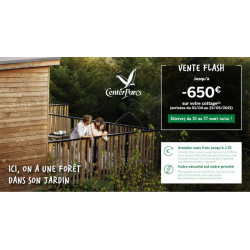 Center Parcs promotion paques